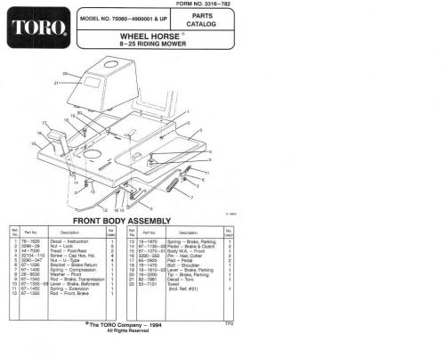 Tractor 1994 8-25 & 8-25e RER D&A OM IPL Wiring SN.pdf