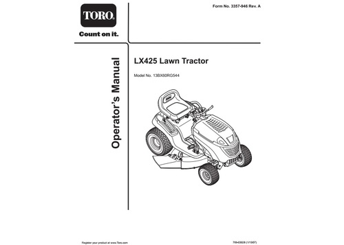 Tractor 2007 LX425 Lawn Tractor D&A OM IPL Wiring sn.pdf