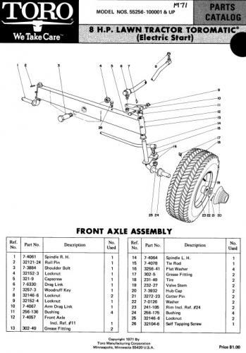 Tractor 1971 Toro 8hp Toromatic D&A IPL Wiring Specs.pdf