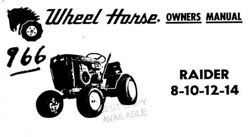 Tractor 1972 Raider 8, 10, 12 & 14 D&A OM Wiring SN.pdf