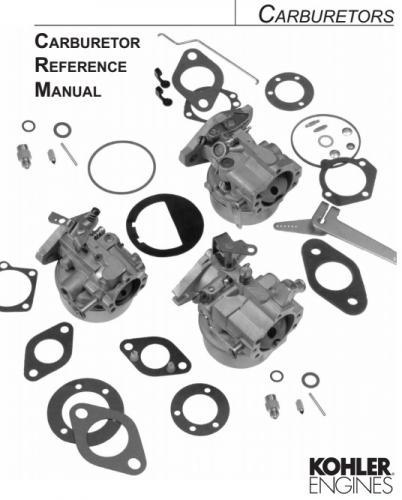 John Deere 60 Lawn Tractor Wiring Diagram Engine Kohler Carburetor Reference Tp 2377 E Pdf Kohler