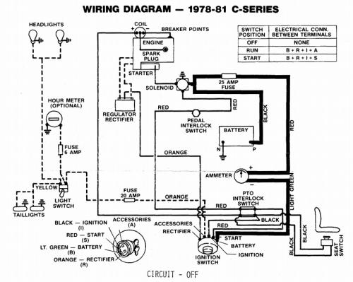 Tractor 1979 C-Series Kohler Powered Wiring Detailed.pdf