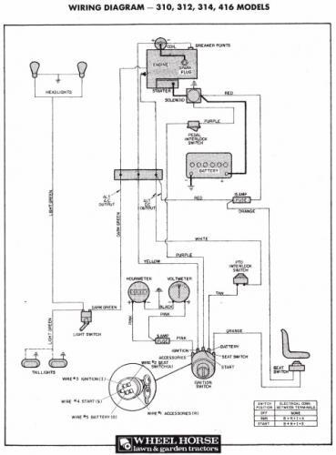 toro wheel horse 312 wiring diagram  delco tractor