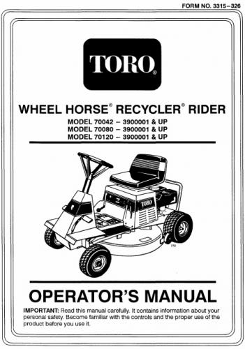 Tractor 1993 8-32 RER Recycler D&A OM IPL Wiring detailed