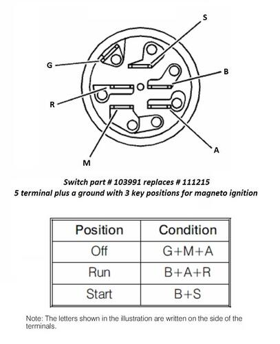 ignition swich 3108  wheel horse electrical  redsquare