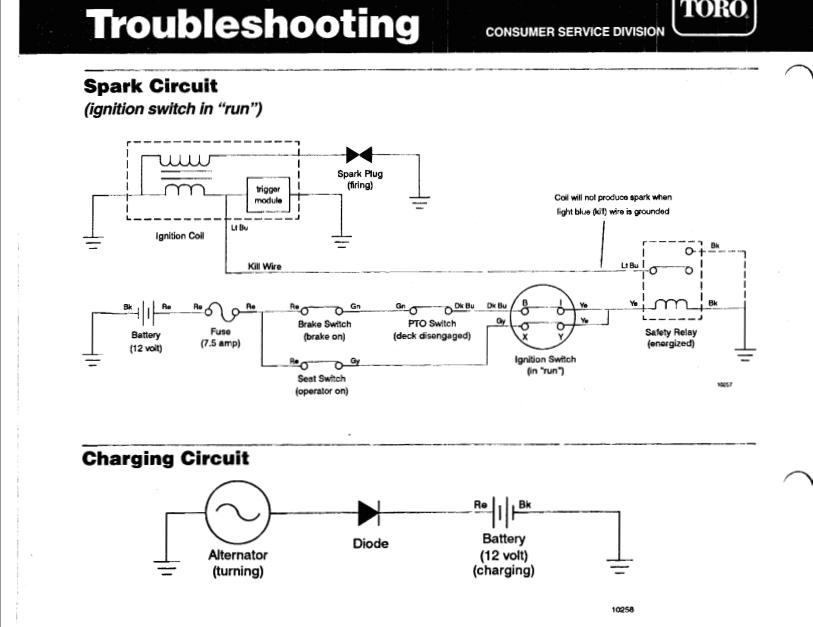 Toro Timecutter Wiring Diagram 71227 2004 Wheelhorse 16 38hxl Battery Not Charging