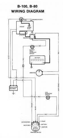 1976 B100 Wiring Diagram? Wheel Horse Electrical RedSquare