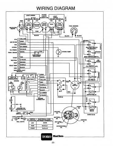 toro wheel horse 520h wiring diagram 3 phase 5 pin plug australia 520-h engine will not start (electrical issues) - electrical ...
