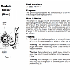 Wiring Diagram Onan Genset 2000 Pajero Stereo My Doesn't Have Spark....... - Wheel Horse Electrical Redsquare Forum