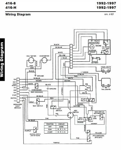 1988 Wheel Horse 416 8 Wiring Diagram : 37 Wiring Diagram
