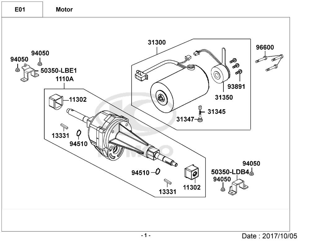 Kymco Maxi XLS EQ40BG Mobility Scooter Diagram Directory