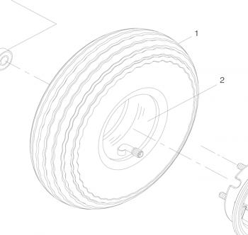 Fr Tire Tyre 4.00-5 330x100 Shoprider Cadiz Trailblazer