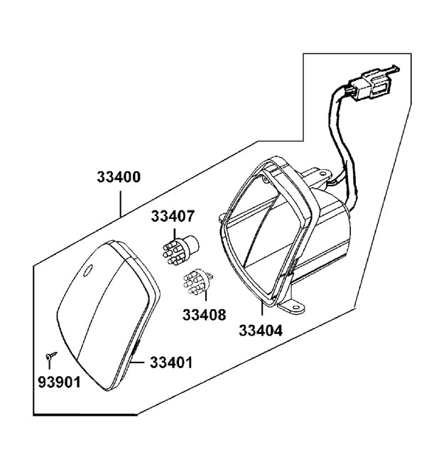 New LED Indicator Blinker Assembly RH Front for Kymco Midi