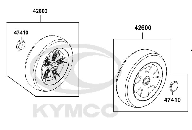 New Solid Rear Wheel Assembly 260X85 For A Kymco Super 4