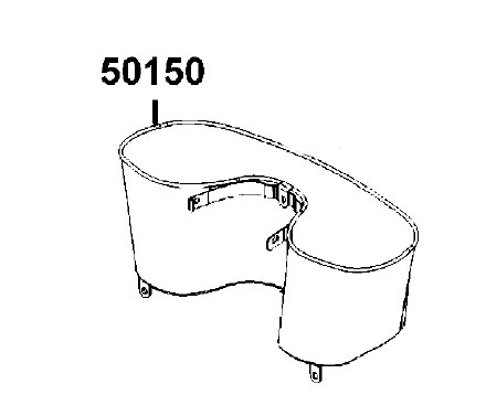 New Inside Cupholder Basket For Kymco Maxi EQ40BF Mobility
