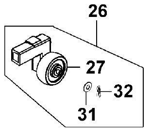 New Left Hand Anti Tip Stabiliser Wheel Assembly For A