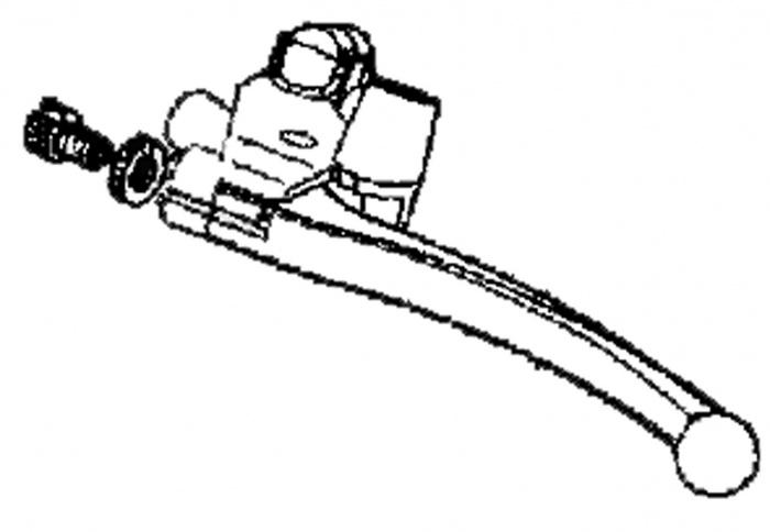 New Manual Brake Lever For A Kymco Maxer EQ40DA Mobility