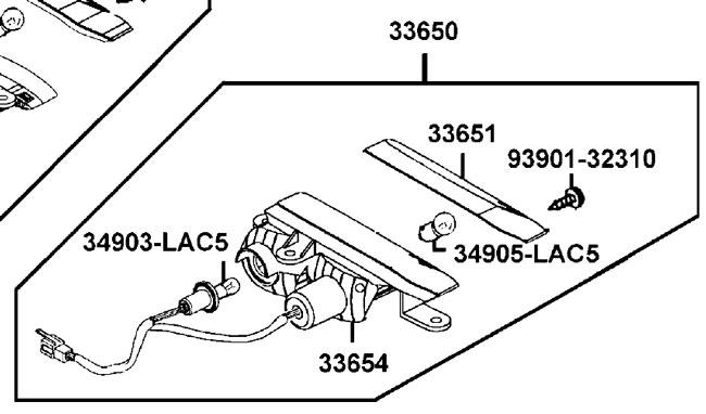 New Rear LH Indicator Blinker Kymco Strider Mobility