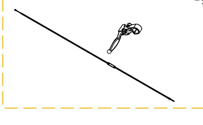 New Manual Brake Lever & Cable Drive Easy Rider Maverick