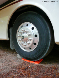 We often use Lynx Blocks under our wheels for an extra leveling boost