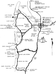 The Three Capes Drive Map