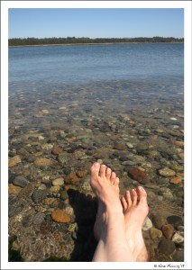 """And a brilliant day """"foot-bathing"""" on the river"""