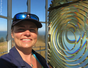 Selfie at the Cape Blanco Fresnel Lens. Yes, I'm a nerd :)