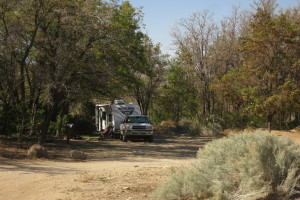 View towards back of campground.