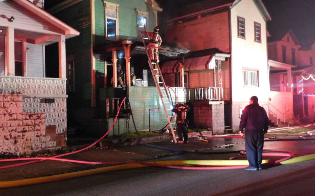 """All Hands Working"" Porch Fire – 15 Vermont Street (Wheeling Island)"