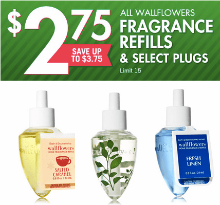 Bath and Body Works Wallflowers/Plug ins ONLY $2.75 *TODAY