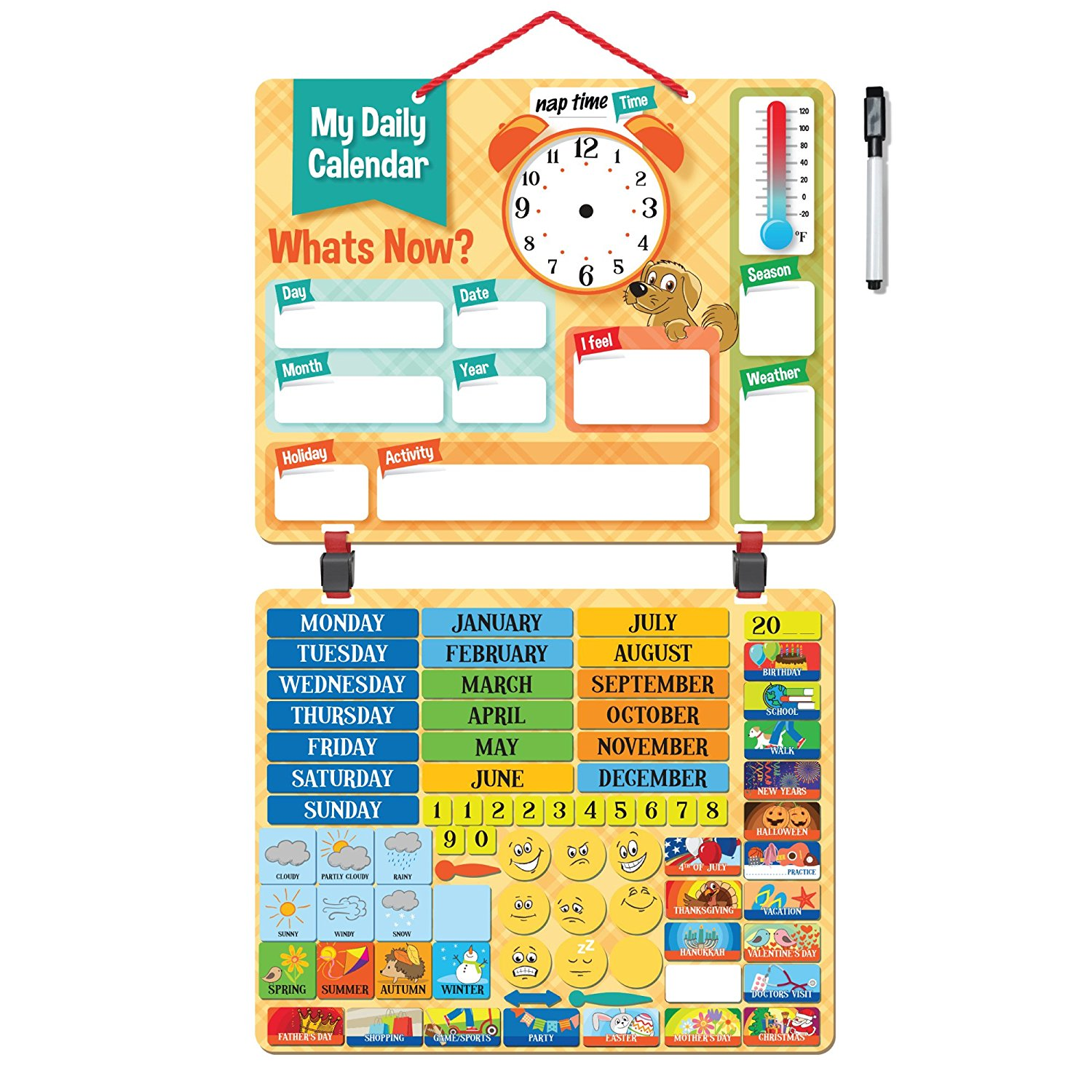 Deluxe Kids Calendar W 134 Exciting Learning Magnets 6