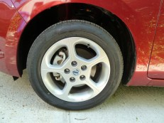 Standard equipment includes these smart, easy to clean five spoke sports wheels.