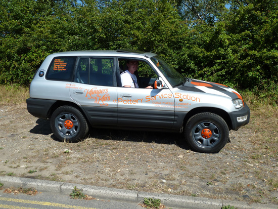 Will Niall's very smart-looking £495 Toyota make it to Bratislava? We certainly think so and hope so. Here, with Niall at the wheel, the RAV4 is about to set off on possibly the longest trip so far in its 16 years.