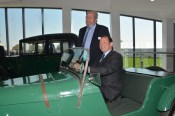 Ed Vaizey MP is seen here in an Austin Seven special, with John H. Haynes OBE alongside.