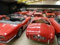 More sports cars taking their places within 'The Red Room'.