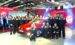 The staff at MG are proud of their products. These photographs were taken at the launch of the MG6, representing a new start for the MG name (in 2011). (Photos courtesy MG).