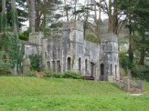 This is 'Shaldon Castle', a folly built in the grounds of the Homeyards Botanical Gardens, located on the hillside just to the south-west of the village. We walked through these gardens on our way to the famous smugglers' tunnel.
