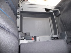 Useful hidden stowage compartments are built-in beneath the centre row of seats, and towards the rear of the 'boot'.