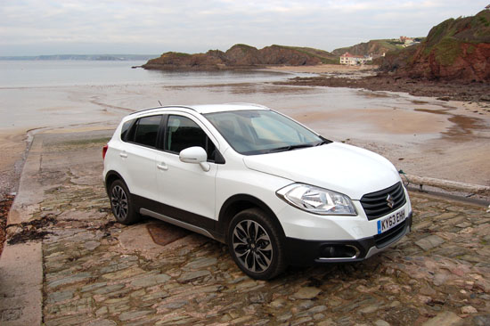 Our Suzuki S-Cross test car is seen here posing for this photograph just above the beautiful beach at Hope Cove in south Devon. The coastline in this area is both rugged and attractive in equal measure.