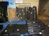 BMC Mini components galore were on offer, including a wealth of body panels and repair sections.