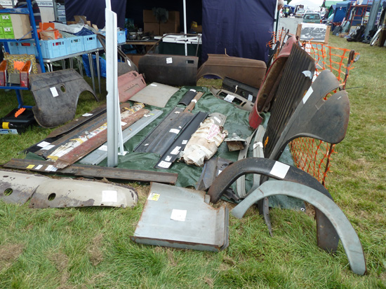 The availability from several stalls of body panels for a huge variety of classic makes and models was just one good reason for attending the 2013 Beaulieu Autojumble.