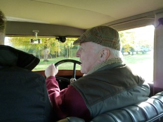 Tom Scanlan is seen here enjoying his drive in the 422 (he liked the Octavia too). Like me, he found that changing gear on the 422 was the most challenging aspect of driving this vintage machine!
