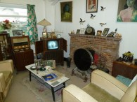 This amazing, re-created living room of the 1950s is part of the Cae Dai 1950s museum and country park, just outside the town of Denbigh (please also see text). It is gradually being resurrected following a devastating fire a few years ago.