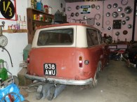 The Cae Dai 1950s museum incorporates a contemporary service station display, in which can be found this now rare Hillman Husky plus a number of other vehicles being 'worked on', and many motoring-related tools, parts, etc.