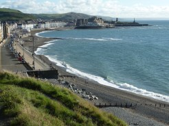 Glorious! As we started to climb up the cliff path, we turned to look back along the Aberystwyth sea front. We just stood for a while, taking in the view as this was such a lovely sight to behold.