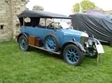 One of the earliest 'Bullnose' Morris models taking part in the '100 years of Morris' display.