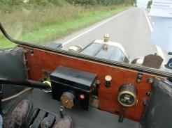 Straightforward dashboard with effective speedometer/mileage recorder.