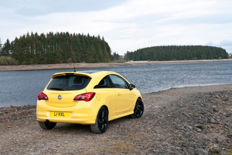 w-a new corsa (three door) rear view