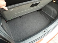…the boot additionally features a 'false' floor. This can be lifted to allow the boot to be made deeper, if required, or can be left in position to provide additional 'oddments' stowage beneath the normal floor level.