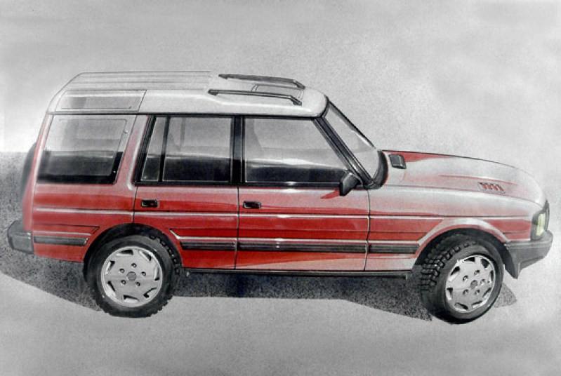 Penned in 1985, this is one of the original design sketches for the Discovery (at that time its launch was still four years away). (Photo courtesy Land Rover).
